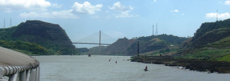 Looking south at the Centennial Bridge