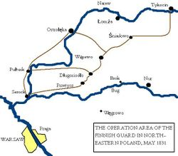 Battle map, poland 1831