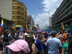 Opposition demonstration in Caracas
