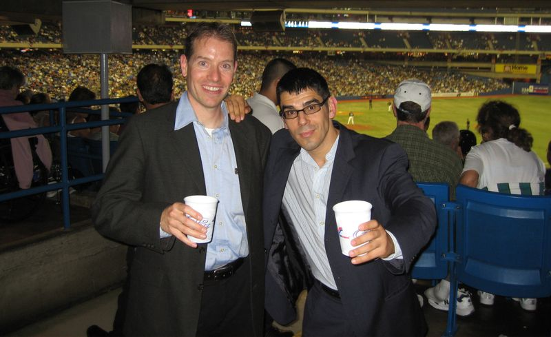 Drinking to Canada at the Skydome