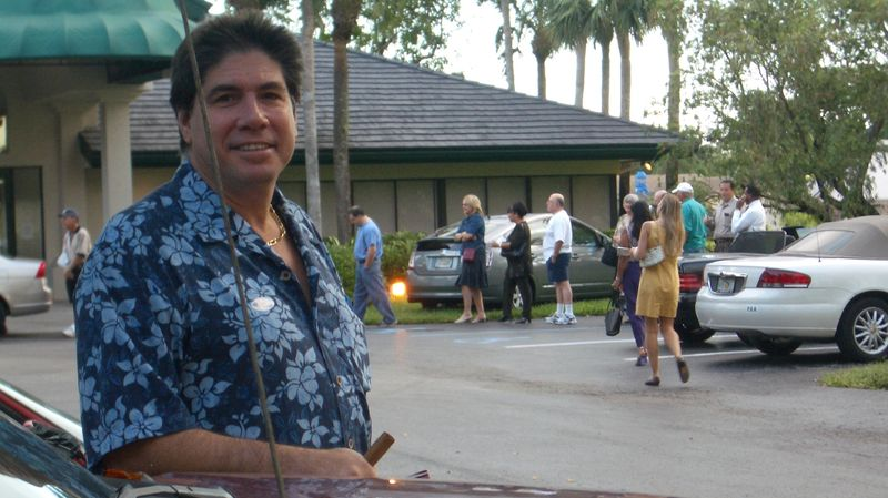 Ricky Maurer on election day in Miami, 2004