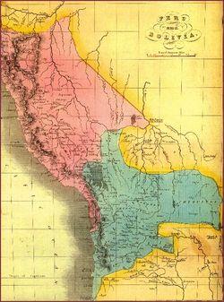 Old peru-chile-boliva map