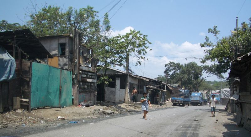 Housing inside the Payatas garbage dump