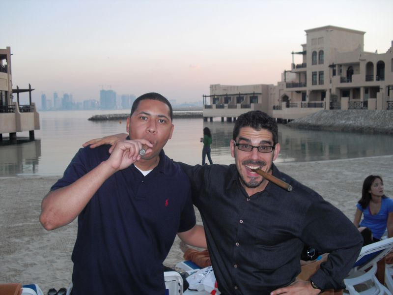 On the beach in Manama