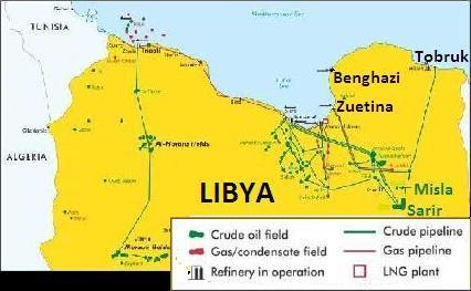 Libya oil map 2