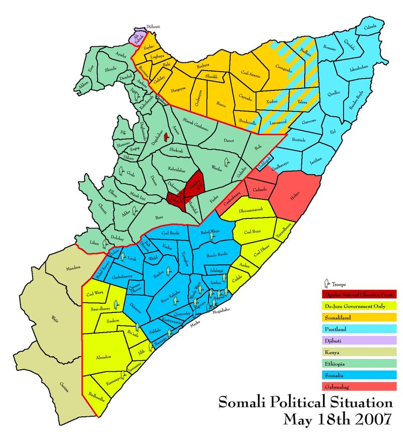 Somalia, May 18 2007, more or less, best as anyone can tell