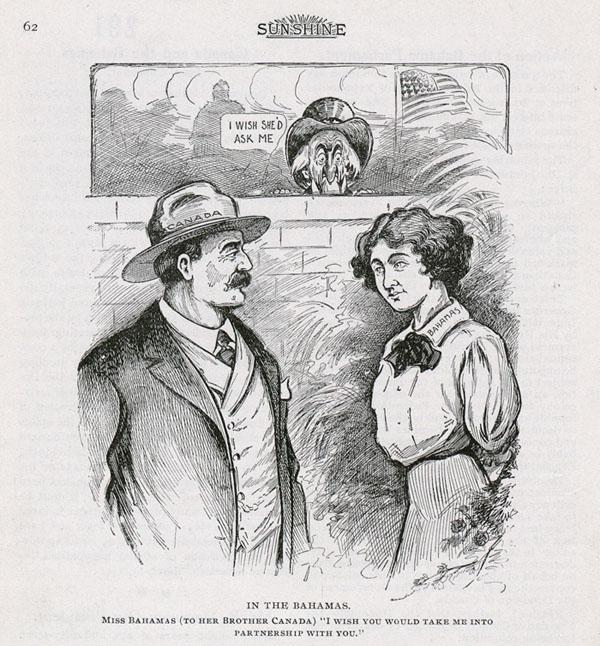 Bahamas-Canada cartoon, 1911