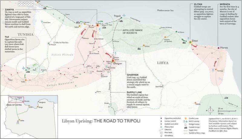 Libyan Civil War, August 2011