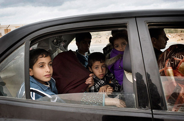 Ras Lanuf refugee family