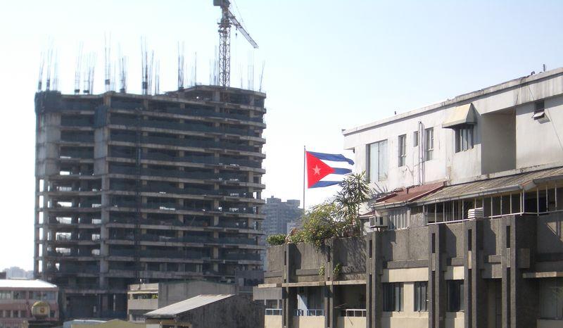 The Cuban flag in Manila