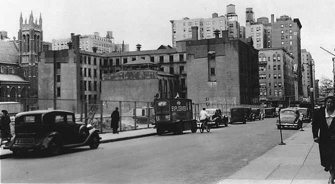 The Upper West Side in 1939 -- Amsterdam Avenue at 93rd Street, West side to South