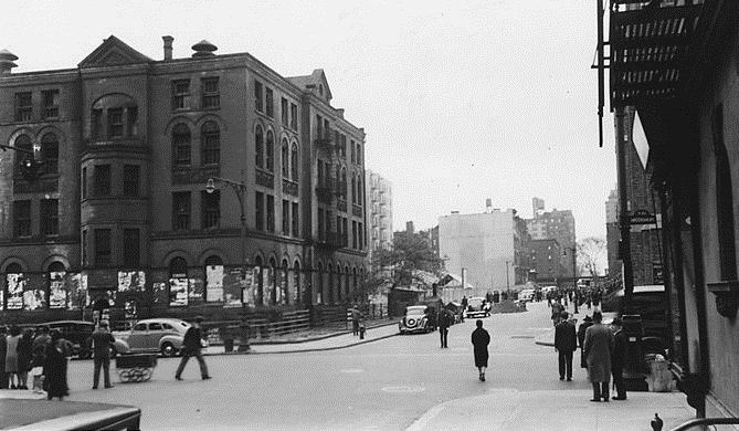 The Upper West Side in 1939 -- Amsterdam Avenue at 92nd Street, West side to Northeast
