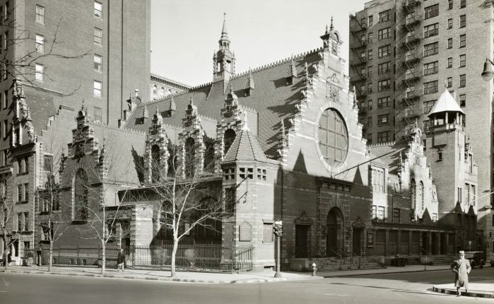 The Upper West Side in 1941 -- Collegiate Church on West 77th Street