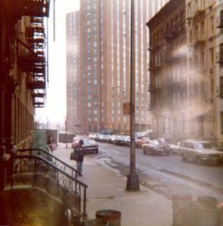 Back to East 93rd Street in 1970s! I do not think that is me in the picture ... but it could be! Am I texting?