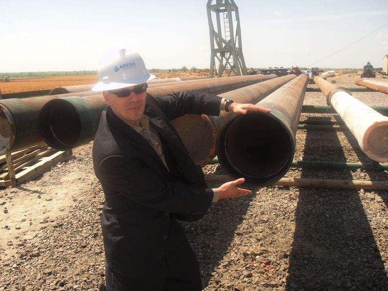 Actual pipeline pipes are a little bit larger