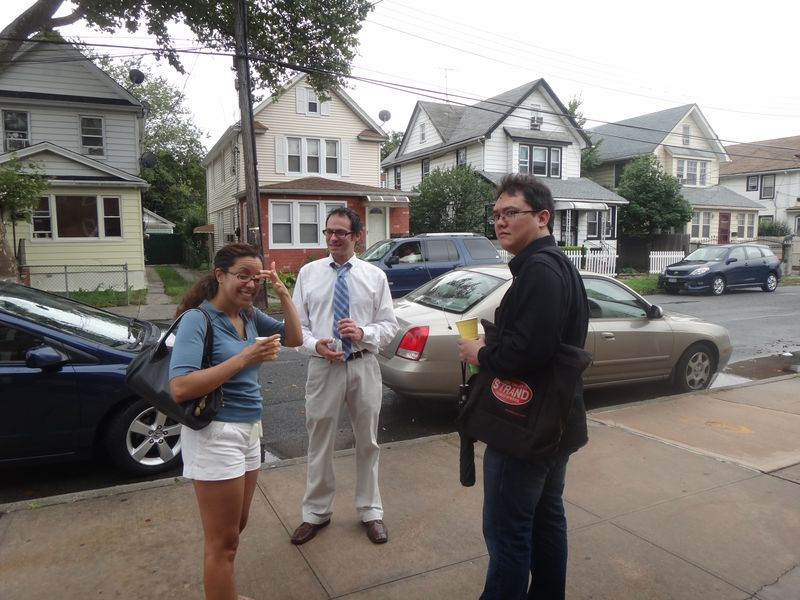 Three New Yorkers in Queens - but only one still lives there! Guess who lives in what borough.