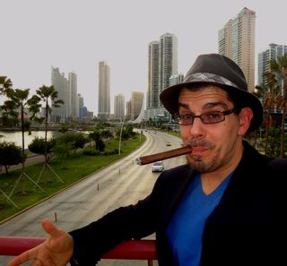 Noel Maurer in Panama City, thinking about Japan while emitting CO2
