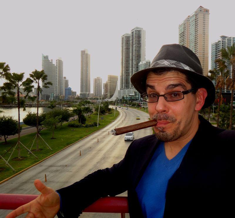 Noel Maurer in Panama City, thinking about Japan while emitting CO2