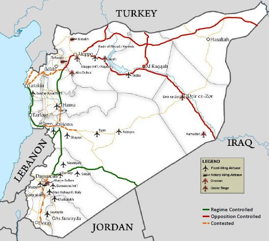 Syrian transport routes