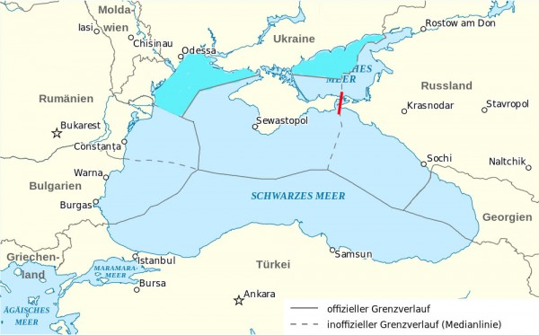 Black Sea map after annexation