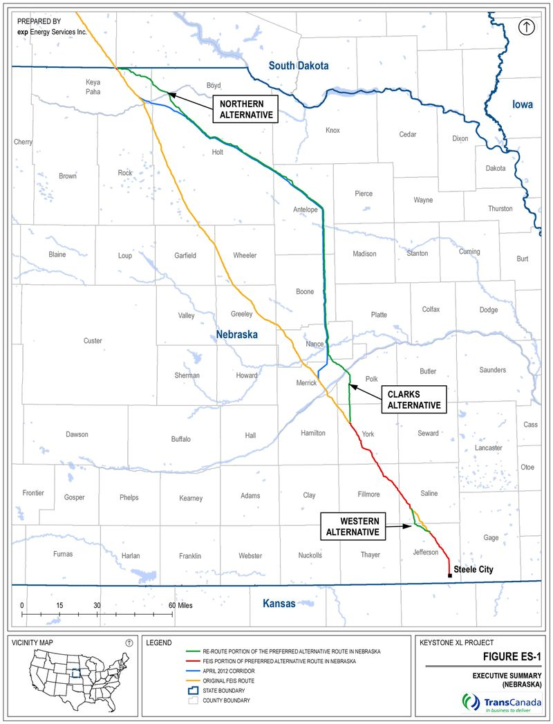 Route-Comparison-Map-from-Keystone-XL-Supplemental-Environmental-Report-to-NDEQ-Figure-ES-1-9-5-2012