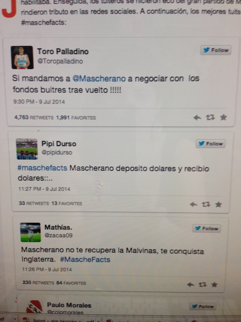 And the hope for Mascherano ran oh so high