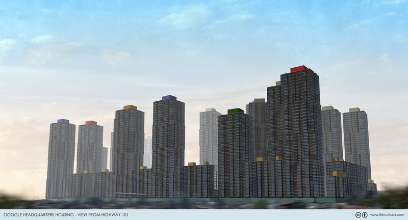 Googleplex Housing view from 101