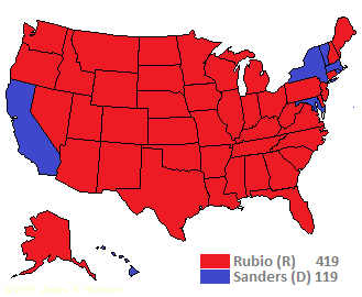How Many Electoral Votes Could Bernie Sanders Win The Power And - Us map number of electoral votes