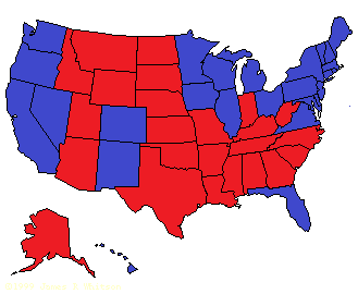 US electoral map, 2012