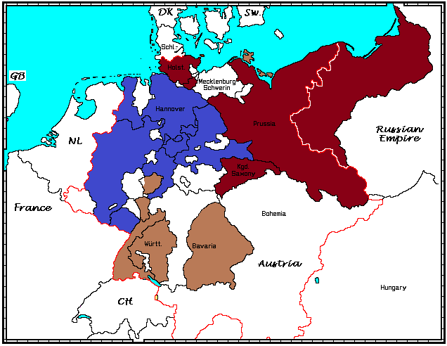 Germany 1815, treatment