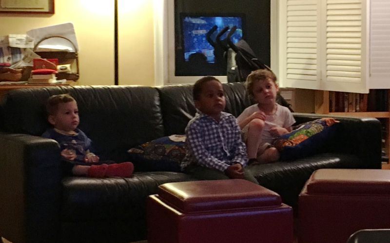 These young men are not watching the Eurovision song contest