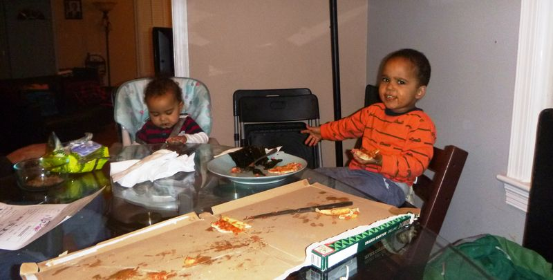 Pop, I can eat pizza, but babies should stick to the Paleo diet