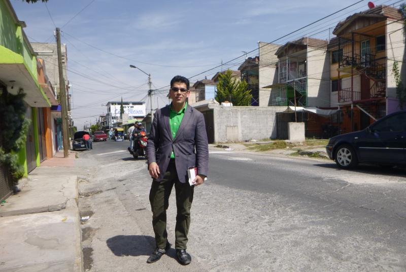 A rowhouse development in suburban Ecatepec