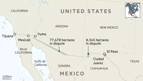 US-Mexico border disputes
